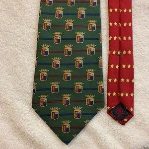 Tommy Hilfiger Designer Green & Red crest logo Tie